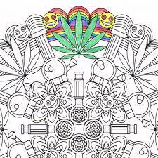 marijuandala marijuana mandala candyhippie coloring pages