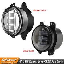 4 inch round led lights 4 inch round led fog lights 4inch for wrangler jk high power 18w