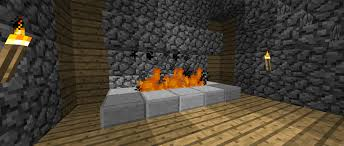 fireplace and wooden house survival mode minecraft java