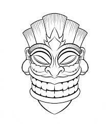 tiki mask coloring pages fablesfromthefriends com