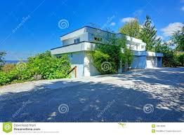 Flat Roof Modern House Modern House Exterior With Flat Roof Stock Photo Image 43910699