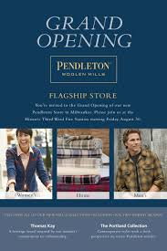 Shop Opening Invitation Card Format Store Opening Pendleton Woolen Mills