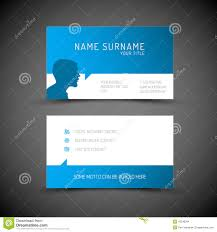 modern simple blue business card template with user profile stock