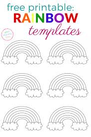 free printable rainbow templates small medium u0026 large what