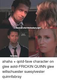 Glee Memes - you know what wednesday isnght its glees glee 01 humpday ahaha