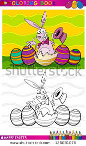 easter bunny book bunny coloring book stock images royalty free images vectors