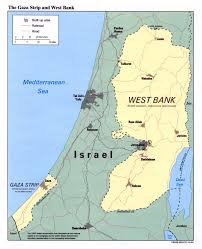 Map Of The Strip Detailed Political Map Of The Gaza Strip And West Bank Vidiani