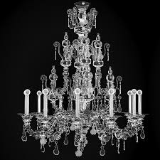 Crystal Glass Chandelier Crystal Murano 3d Model