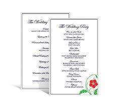 Programs For Wedding Rectangle Wedding Programs 5 X 7 875 Diy Unique Wedding Programs