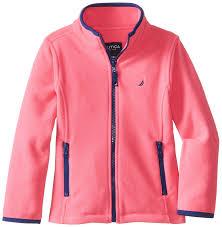 nautica girls polar fleece front zip jacket clothing