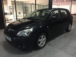 2004 toyota corolla 5 door 1 6 vvti black manual starts and drives