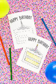 free printable birthday cards for kids free printable birthday