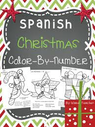 spanish christmas colour number emiliegdr teaching