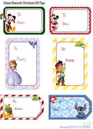 printable disney christmas gift tags preschoolears blog