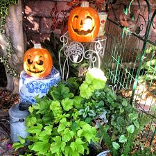 sunny simple life pumpkins halloween decor and the garden