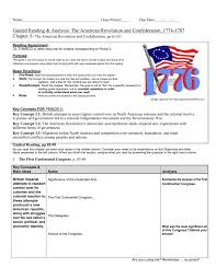 guided reading u0026 analysis the american revolution and