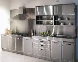 edelstahl küche edelstahl küche kabinett mit kühlschrank interieur und möbel ideen