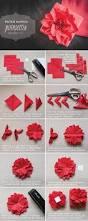 paper napkin poinsettia tutorial the elli blog