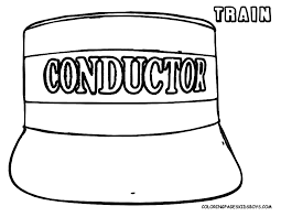 Train Hat Coloring Page   train conductor hat coloring page kinder teaching pinterest