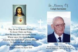 funeral cards sacred heart funeral cards bereavement messages