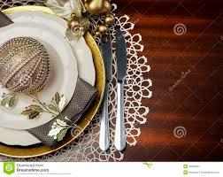 Formal Dinner Place Setting Gold Metallic Theme Christmas Formal Dinner Table Place Setting