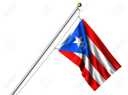 Flag Hanging Detailed 3d Rendering Of The Flag Of Puerto Rico Hanging On A