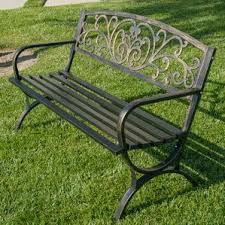 Steel Garden Bench Metal Patio Benches Joss U0026 Main
