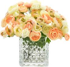 ranunculus bouquet one allium way ranunculus bouquet reviews wayfair