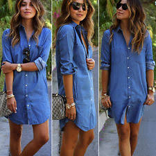 women u0027s denim dresses ebay