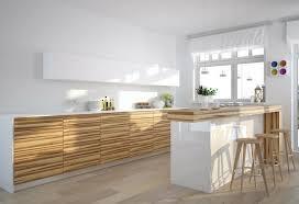 cuisine contemporaine blanche et bois deco cuisine blanc et bois chaios com