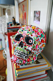 Sugar Skulls For Sale Sparkle Tooth Alert Collage Clay Crystal Skull Aunt Peaches