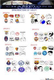 Chions League Memes - uefa chions league draw reactions by lelolegendz meme center