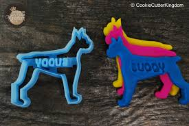 boxer dog with full tail boxer dog cookie cutter