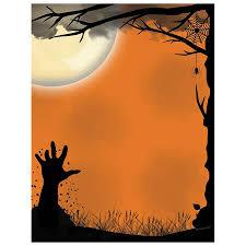 halloween border scary hand awakening halloween border paper halloween papers