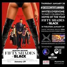 movie release party for fifty shades of black