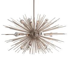 Sputnik Light Fixture by Sunburst Polished Nickel Modern Industrial Sputnik Chandelier