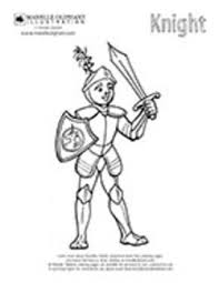 free coloring sheet print medieval knight fantasy