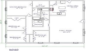 barndominium floor plans for planning your 5 bedroom house 40x60