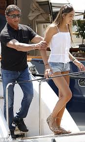 sylvester shirt sylvester stallone enjoys a yacht and monaco with and