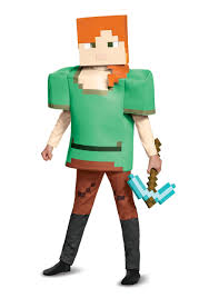 minecraft costumes minecraft alex deluxe child costume