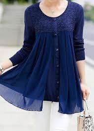 navy blue blouse lace panel button embellished navy blue blouse modlily com usd