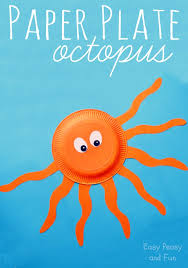 Monkey Paper Plate Craft - octopus paper plate craft easy peasy and