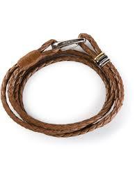 leather bracelets for men paul smith leather wrap bracelet in brown for men lyst