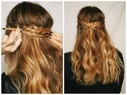 layered back crown braid medium hair styles ideas 43100