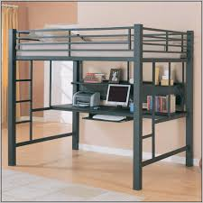 Metal Frame Loft Bed With Desk Bedroom Metal Loft Bed With Desk And Chair Expansive Travertine