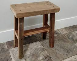 Reclaimed Wood Bar Stool Reclaimed Wood Stool Etsy