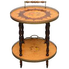 antique tea tables for sale italian marquetry bar cart or tea trolley by sorrento 1960s for