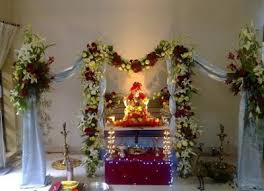Home Temple Decoration Ideas Ganesh Festival 2017 Mumbai U0026 Decoration Ideas At Home Happy