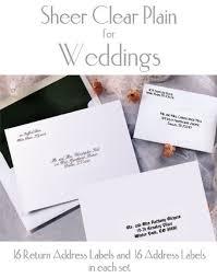 return address wedding invitations wedding invitation etiquette return address label matik for