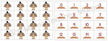 free thanksgiving turkey math boy